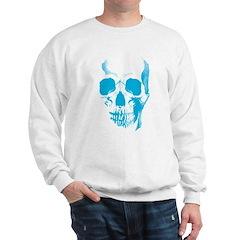 Blue Skull Face Sweatshirt