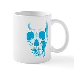 Blue Skull Face Mug
