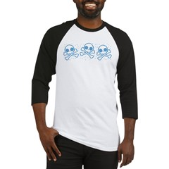 Cute Blue Skulls Baseball Jersey