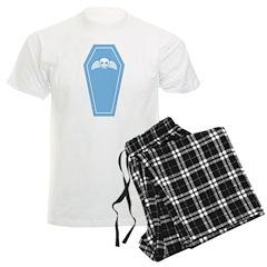 Cute Blue Coffin Men's Light Pajamas