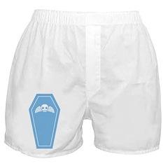 Cute Blue Coffin Boxer Shorts