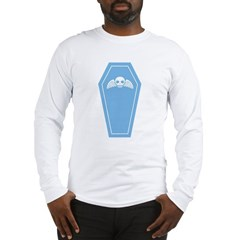 Cute Blue Coffin Long Sleeve T-Shirt