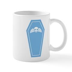 Cute Blue Coffin Mug