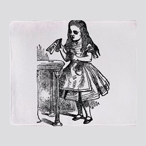 Vintage Alice Drink Me Throw Blanket