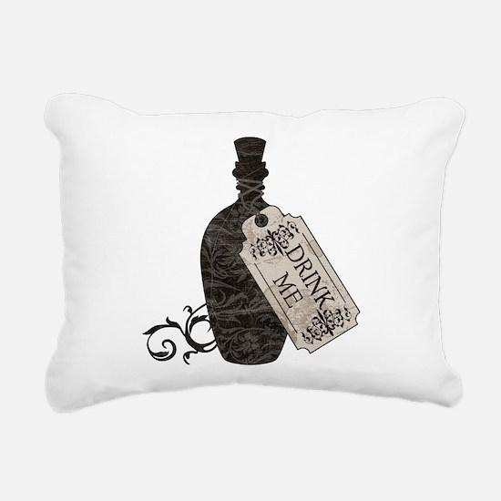 Drink Me Bottle Worn Rectangular Canvas Pillow