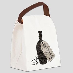 Drink Me Bottle Worn Canvas Lunch Bag