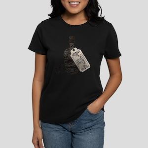 Drink Me Bottle Worn Women's Dark T-Shirt
