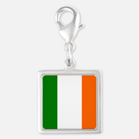 Flag of Ireland Silver Square Charm