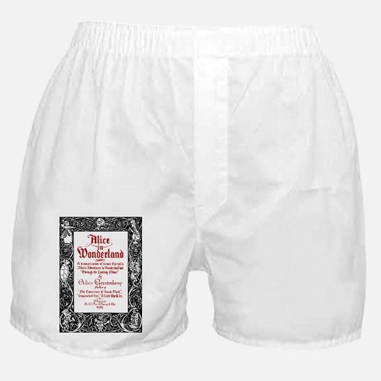 Vintage Alice Title Page Boxer Shorts