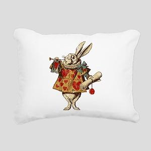 Alice White Rabbit Vintage Rectangular Canvas Pill
