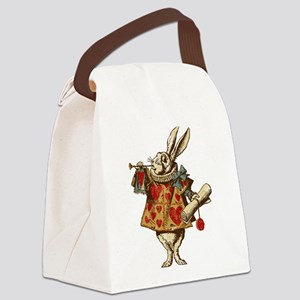 Alice White Rabbit Vintage Canvas Lunch Bag