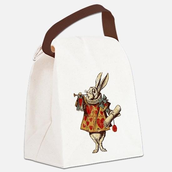 Alice White Rabbit Vintage Canvas Lunch Bag