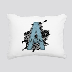 A For Alice Rectangular Canvas Pillow
