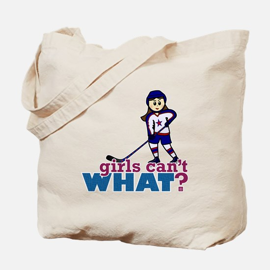 Girl Hockey Player Tote Bag
