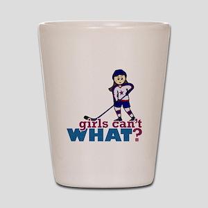 Girl Hockey Player Shot Glass