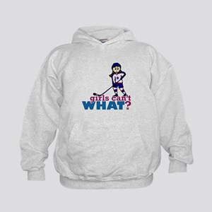 Girl Hockey Player Kids Hoodie