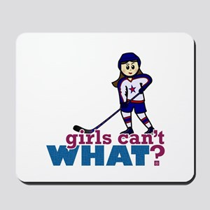 Girl Hockey Player Mousepad