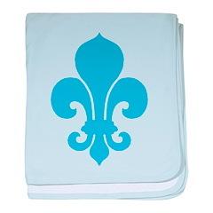 Blue Fleur De Lis baby blanket