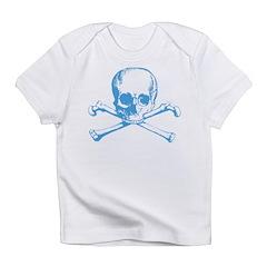 Classic Skull And Crossbones Blue Infant T-Shirt