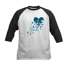 Blue Heart With Skulls And Swirls Kids Baseball Je