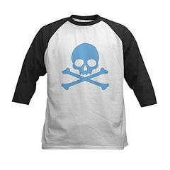 Blue Skull And Crossbones Kids Baseball Jersey