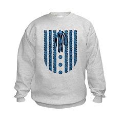 Faux Lace Front Kids Sweatshirt