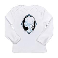 Pretty Skull Cameo Long Sleeve Infant T-Shirt
