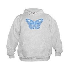 Blue Skull Butterfly Hoodie