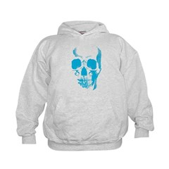 Blue Skull Face Hoodie