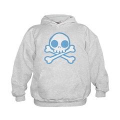 Cute Blue Skull Hoodie