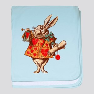Alice White Rabbit Vintage baby blanket