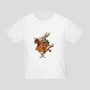 Alice White Rabbit Vintage Toddler T-Shirt