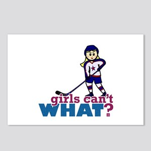 Woman Hockey Player Postcards (Package of 8)