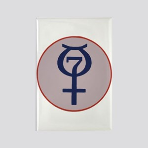 Project Mercury Program Logo Rectangle Magnet