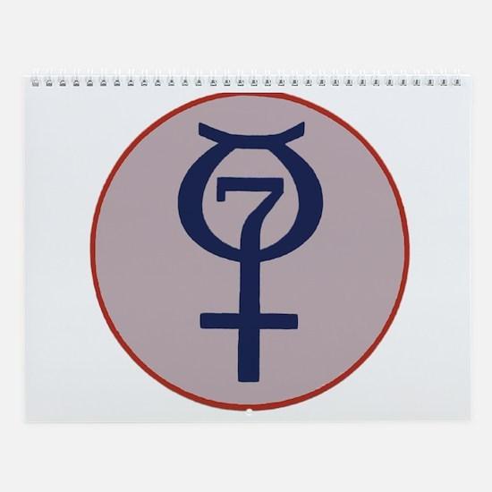 Project Mercury Program Logo Wall Calendar