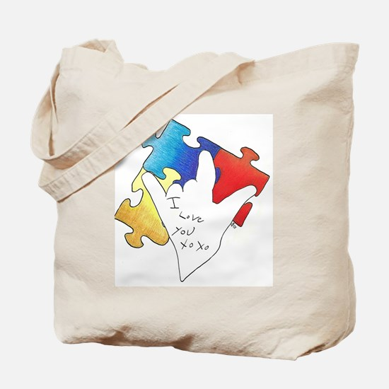 Deaf Autism Tote Bag