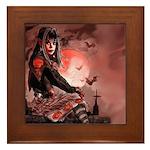 Nocturnals Halloween Girl Framed Tile