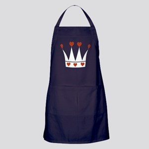 Crown With Hearts Apron (dark)