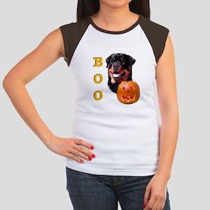 Halloween Rottie Boo Women's Cap Sleeve T-Shirt