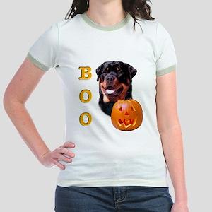Halloween Rottie Boo Jr. Ringer T-Shirt