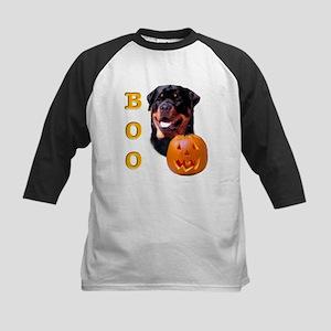 Halloween Rottie Boo Kids Baseball Jersey