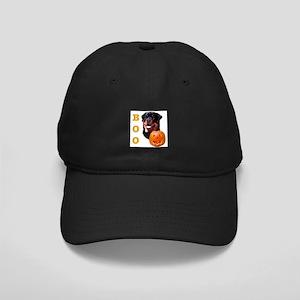 Halloween Rottie Boo Black Cap