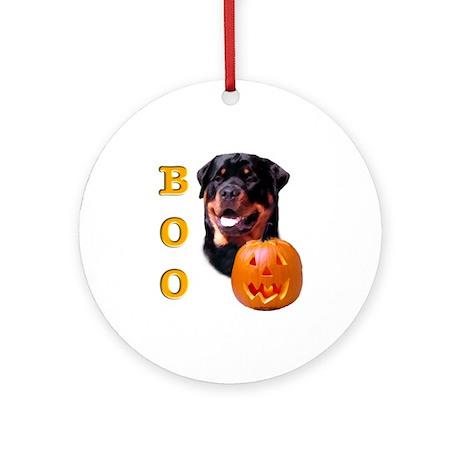 Halloween Rottie Boo Ornament (Round)