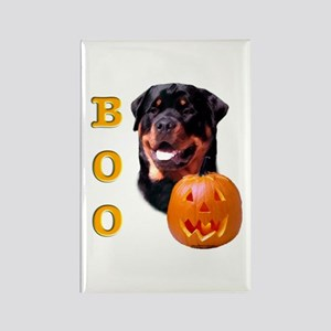 Halloween Rottie Boo Rectangle Magnet