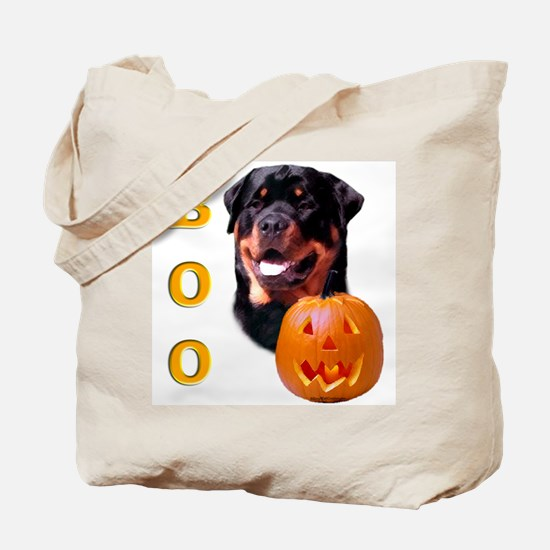 Halloween Rottie Boo Tote Bag