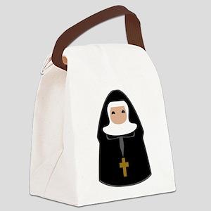 Cute Nun Canvas Lunch Bag