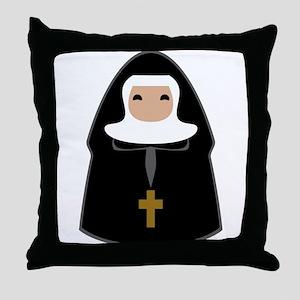 Cute Nun Throw Pillow
