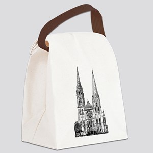 Chartres Cathedral Canvas Lunch Bag