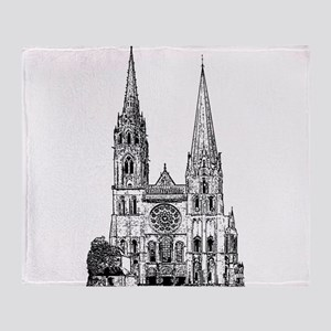 Chartres Cathedral Throw Blanket