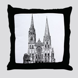 Chartres Cathedral Throw Pillow